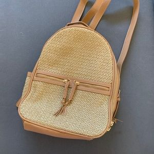 NWOT Tommy Bahama Straw Backpack